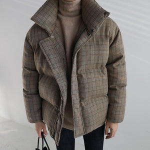 IEFB /men's wear 2020 winter cotton-padded clothes korean style popular trendy corduroy warm loose coat for male vintage 9Y3293