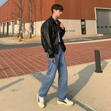 IEFB /men's wear spring blue jeans male's trendy straight loose Korean style trendy all-match casual long denim pants 9Y4079