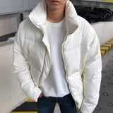 IEFB /men's wear Korean style thickened stand collar winter warm cotton-padded jacket loose coat male's 2020 vintage coat 9Y3290