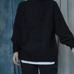 IEFB 2020 autumn winter soft warm pullovers kintwear for male loose casual oversized sweater larterm long sleeve clothes 9Y4974