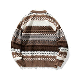 IEFB /men's clothing 2020 Autumn winter Sweater new ethnic style fashion ins fashion male's knitwear tops round collar 9Y3792
