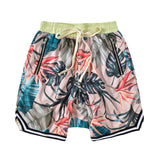 IEFB High Street Hip Hop Men's Causal Board Shorts Loose Flower Print Drawstring Elastic Waist Fashion Shorts High Quality Y5010
