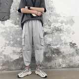 IEFB spring new men's 2021 casual trousers Korean fashion elastic waist bandage bottoms tide pants for male 9Y4833