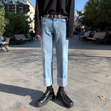 IEFB men's clothing ankle-length jeans for male fashion spring winter handsome straight denim pants Korean trend loose 9Y4313