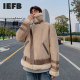 IEFB /men's wear Winter new cotton-padded coat 2020 new thickened nimitation rabbit fur high-collar cotton clothes jacket 9Y3593