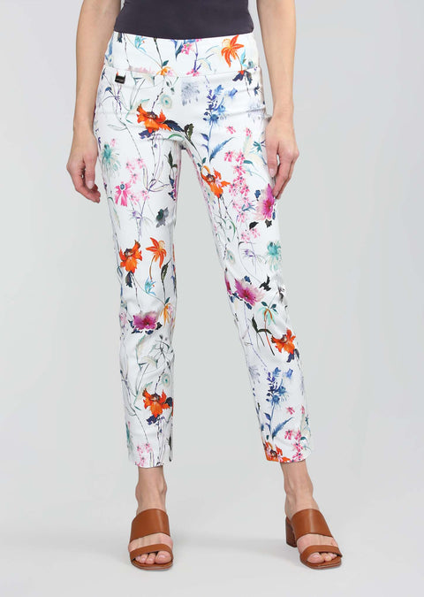 Millefleur Print 28'' Ankle Pant