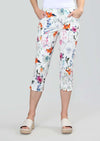 Millefleur Print 21 1/2''Capri With Pockets