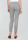 Naverra Check Print 28'' Slim Ankle Pant With Cuffs