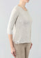 "Yolanda Knit 25"" Sweater W/ ""U"" Neck & 3/4 Sleeves"