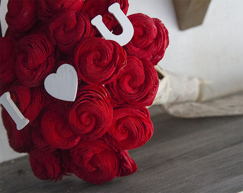 Valentine's Day wood flower bouquet by Eco Flower.
