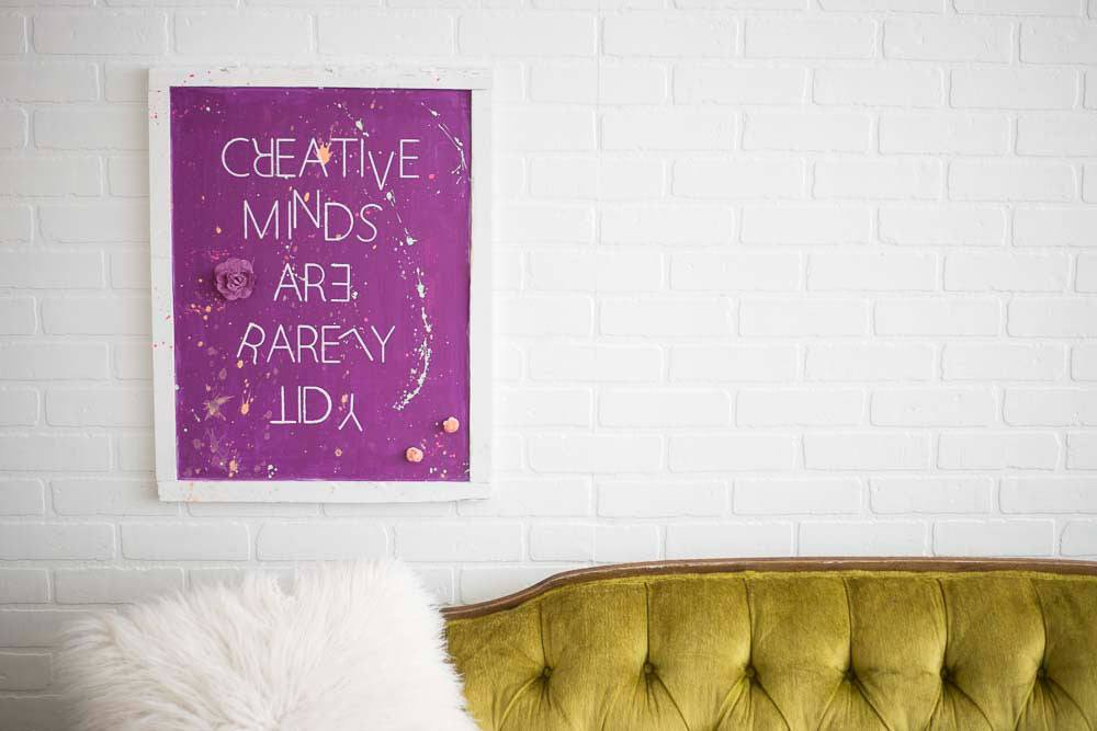 Creative Minds - Pallet Wood Sign - Eco Flower - faux flowers - gift - wedding flowers