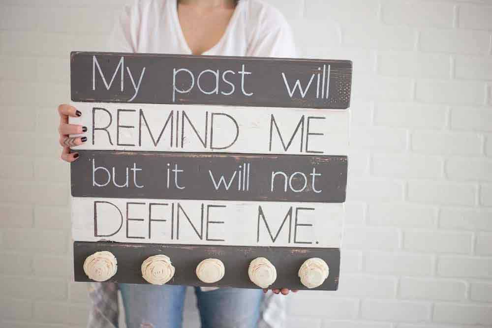 It Will Not Define Me - Pallet Wood Sign