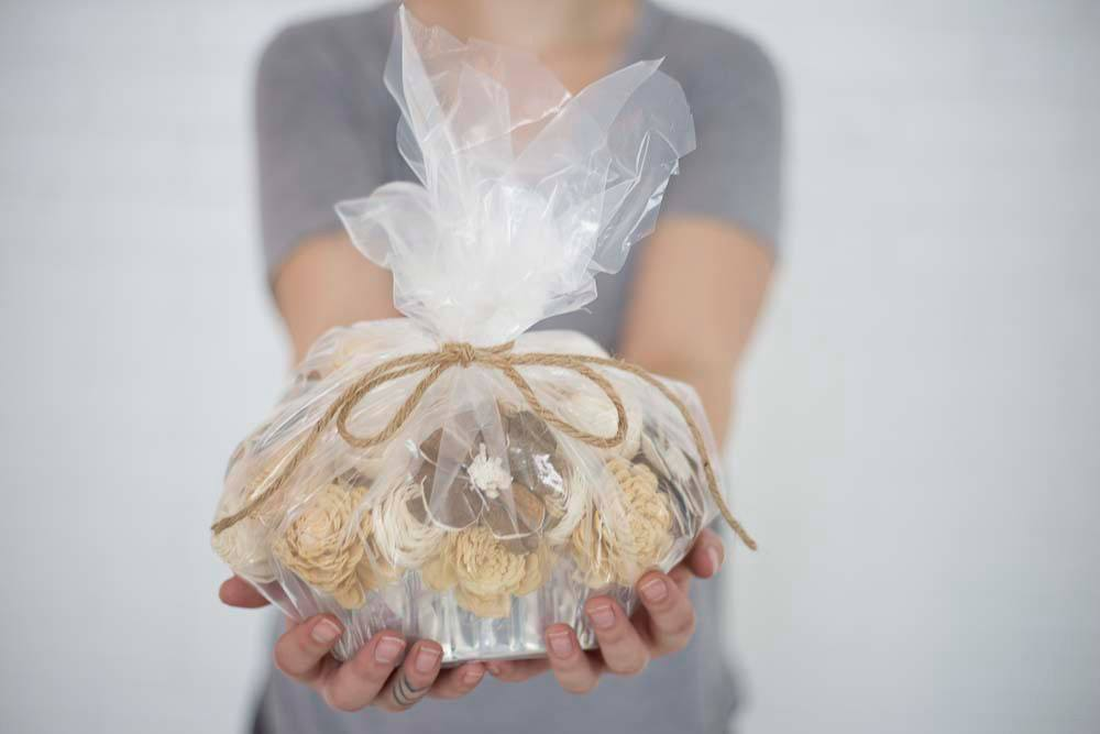 Mini Banana Nut Loaf Centerpiece - Eco Flower - faux flowers - gift - wedding flowers