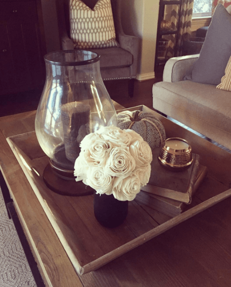 Thank you @loricotta for this great shot of our vintage mason wood flower bouquet.