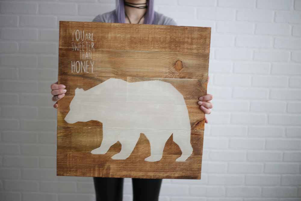 Animal Pallet Wood Signs - Set of 4