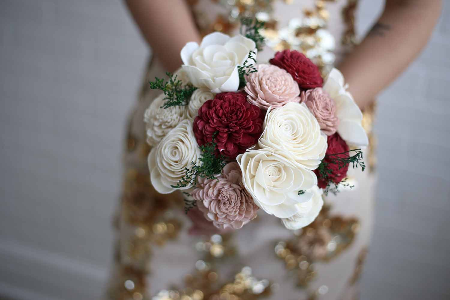 Marsala Bridesmaid Bouquet