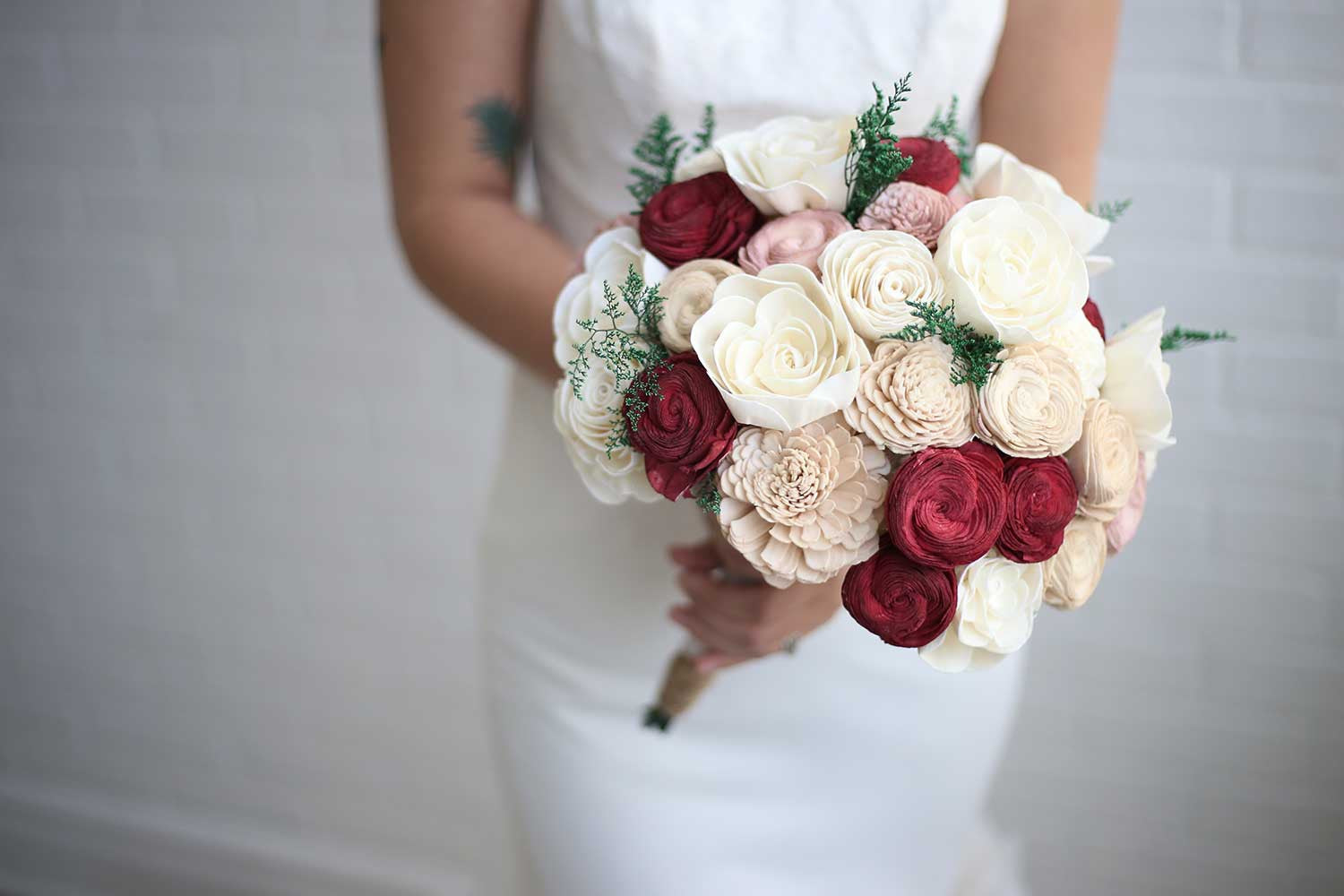 Marsala bridal bouquet eco flower - Flowers good luck bridal bouquet ...