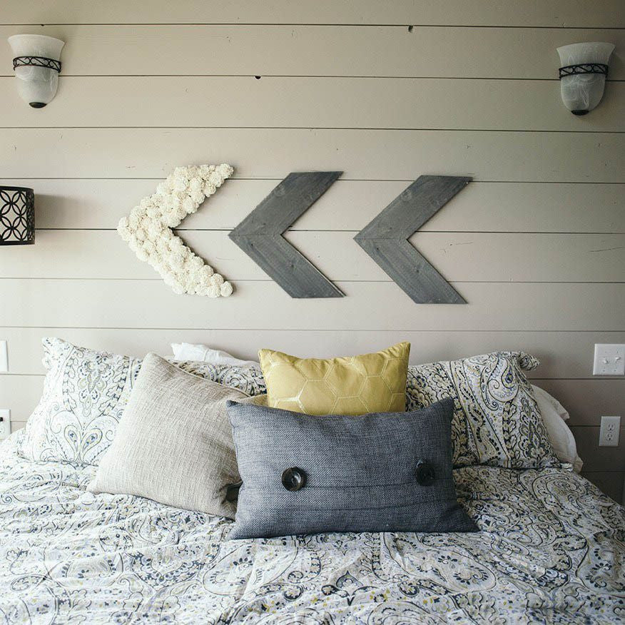 Reclaimed Pallet Wood Chevron
