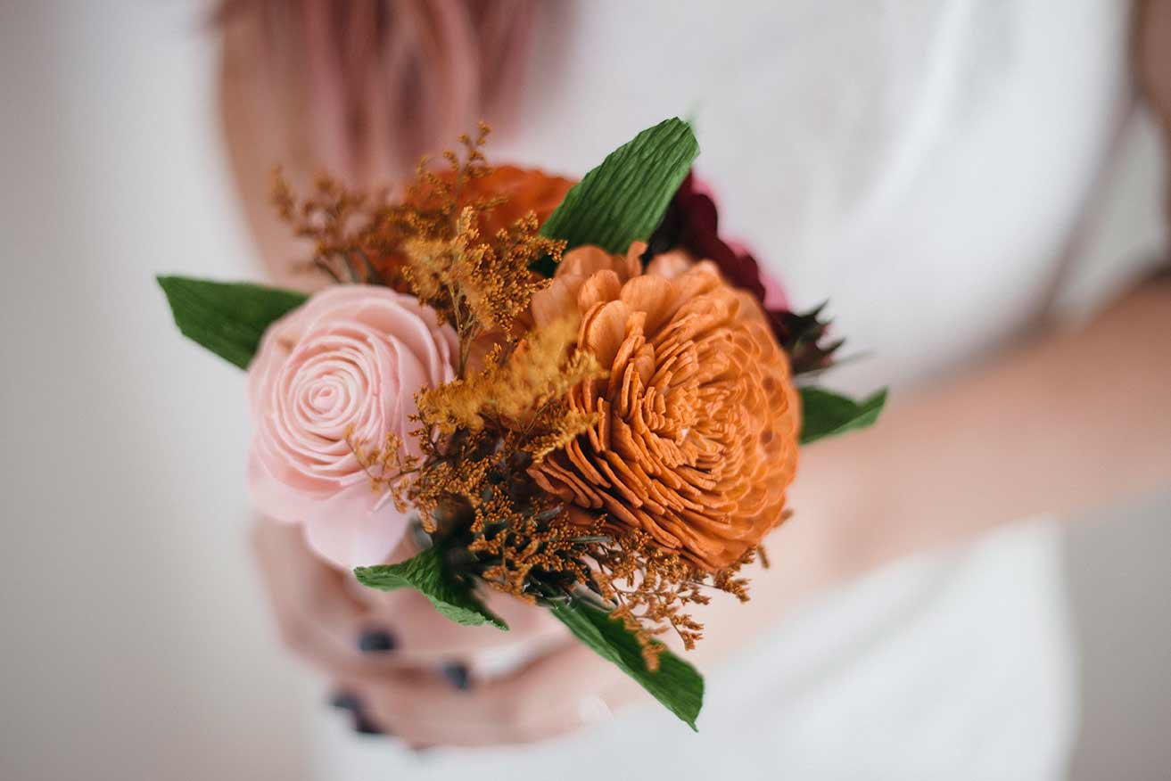 A Cozy Touch Bridesmaid Bouquet