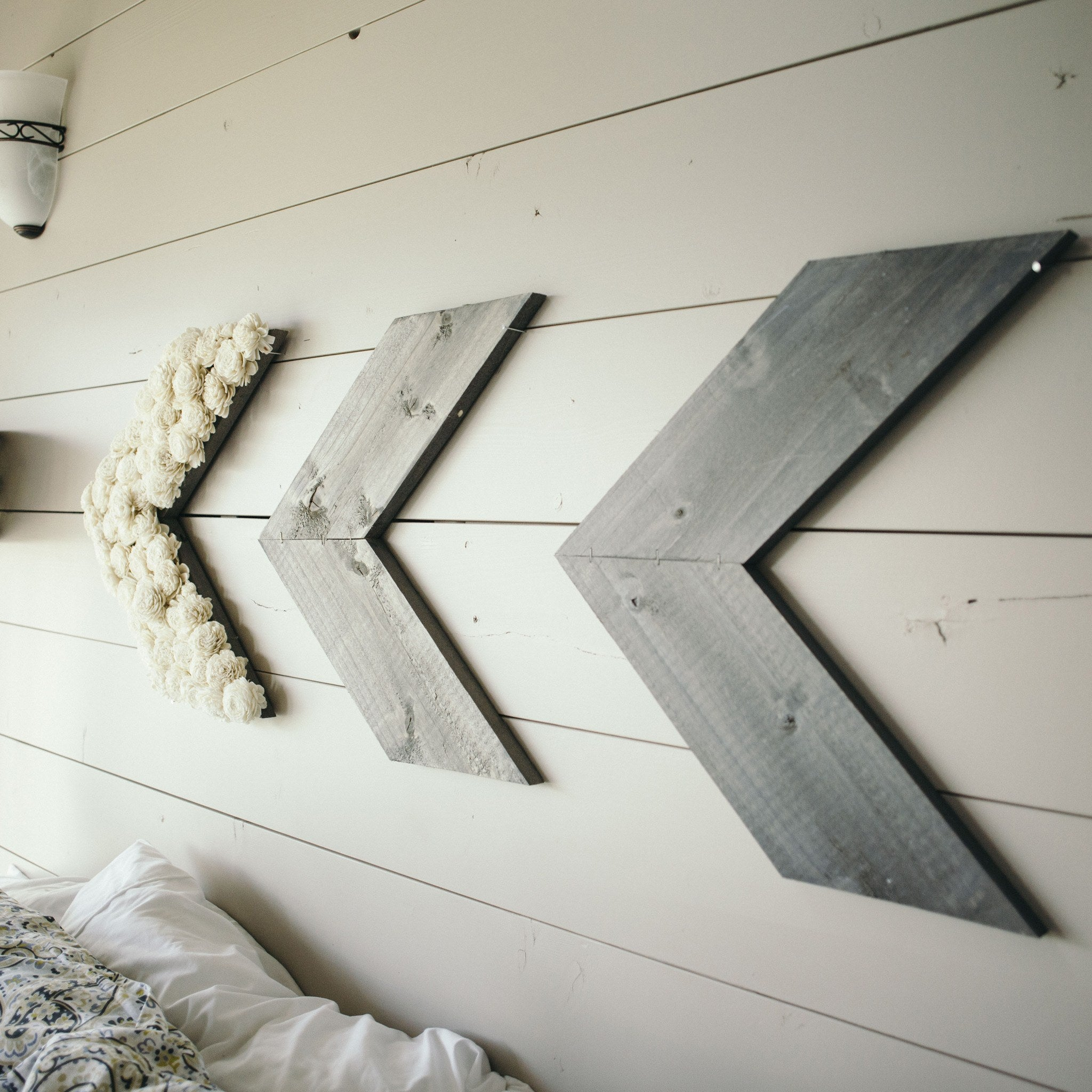 Reclaimed Pallet Wood Chevron - Eco Flower - faux flowers - gift - wedding flowers
