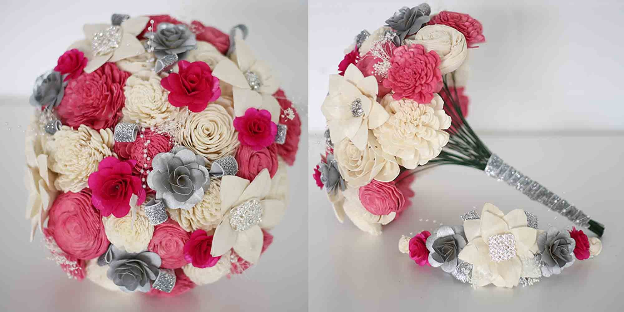 Quinceañera Bouquet + Crown (4 Color Options)