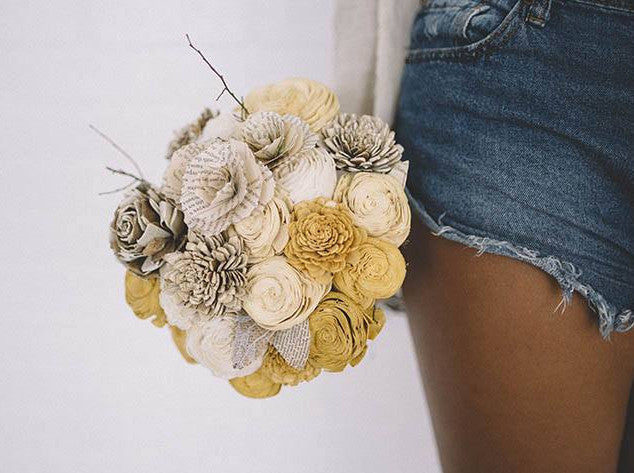 Banana Pancakes - Eco Flower - faux flowers - gift - wedding flowers