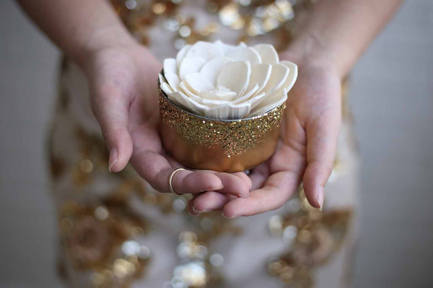 Mini Gold Centerpiece