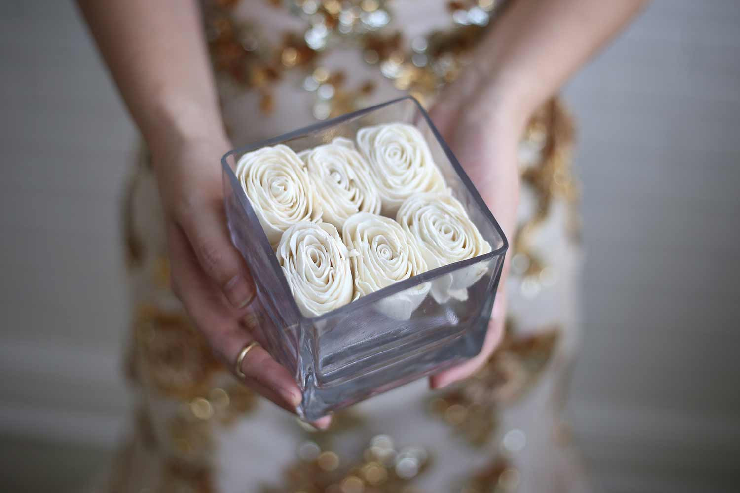 Square Rose Centerpiece