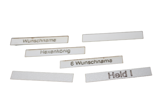 Heldentafel - Custom Namen Set (6)