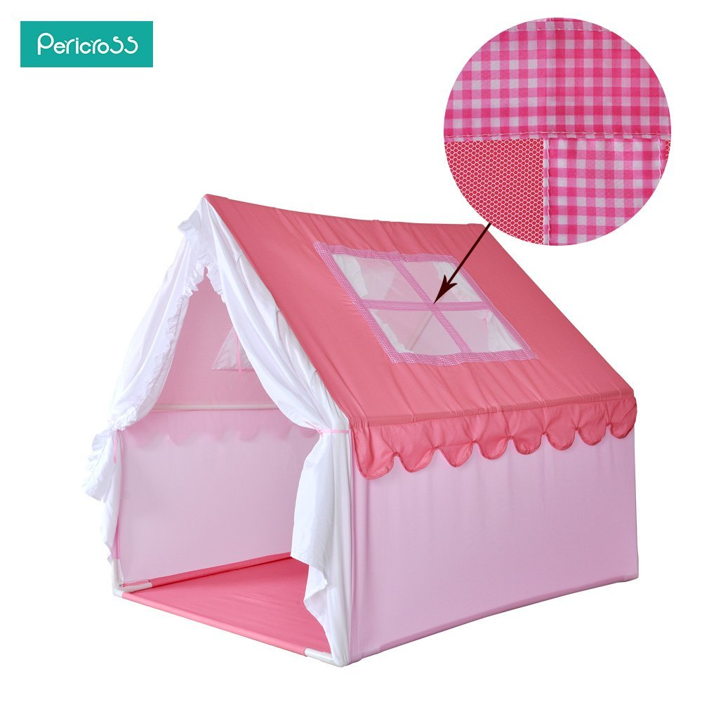 Pericross Princess Style Castle Tents Large Space Kids Cottage Playhouse