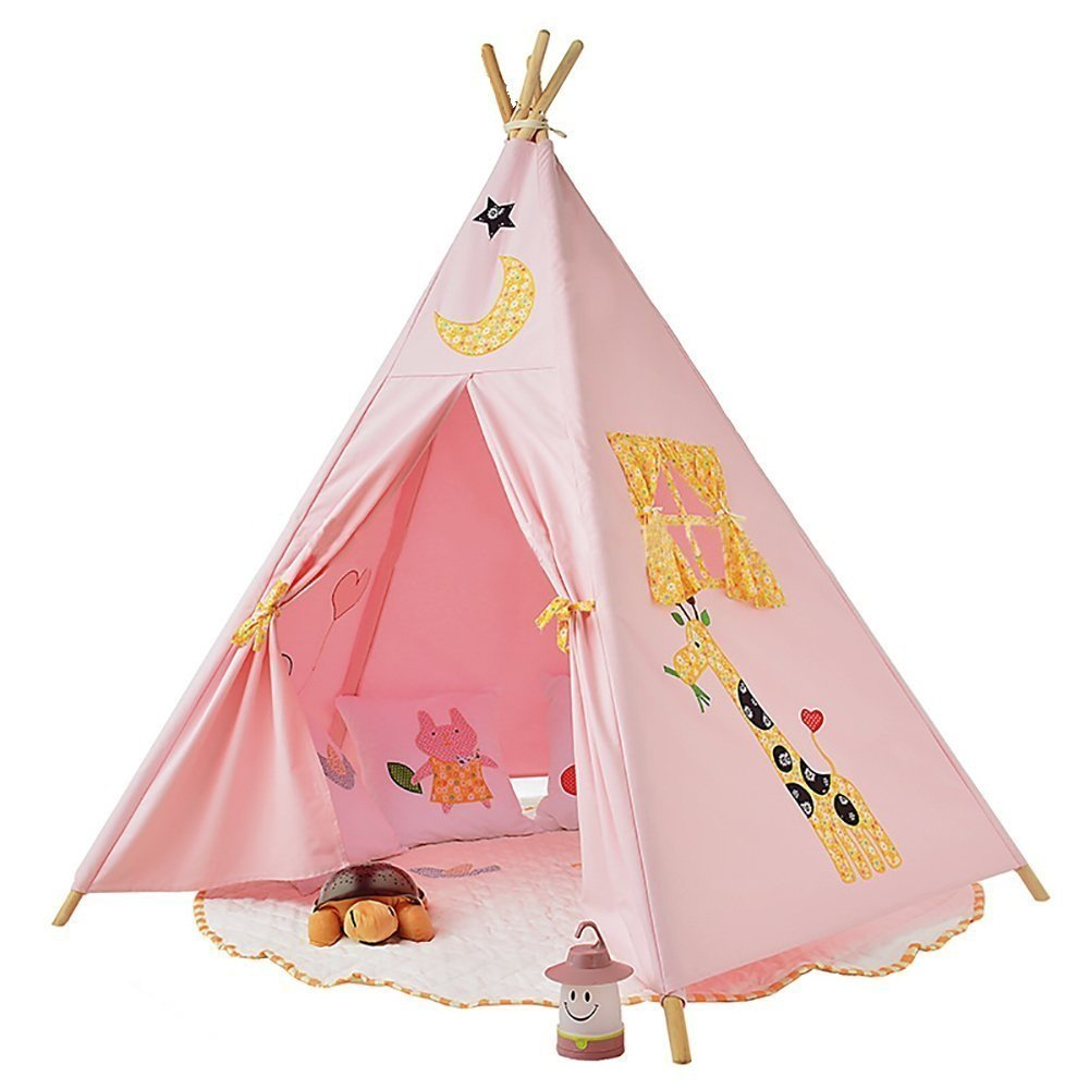 Pericross Kids Teepee Tent Indian Play Tent Childrenu0027s Playhouse for Outdoor and Indoor Play (Pink 4 sides with Animals)  sc 1 st  Pericross & Pericross Kids Teepee Tent Indian Play Tent Childrenu0027s Playhouse ...