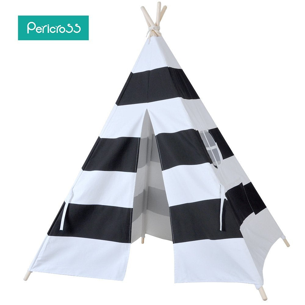 Pericross® Bambini Teepee Kids Play tenda 145 cm indiano tenda per bambini interni casa tende Kid Play Ground esterni, giardino