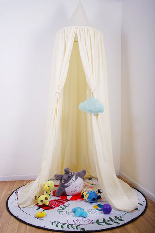 "7'10"" Bed Canopy for Kids Reading Play Tents 100% Fine Cotton Canopy"