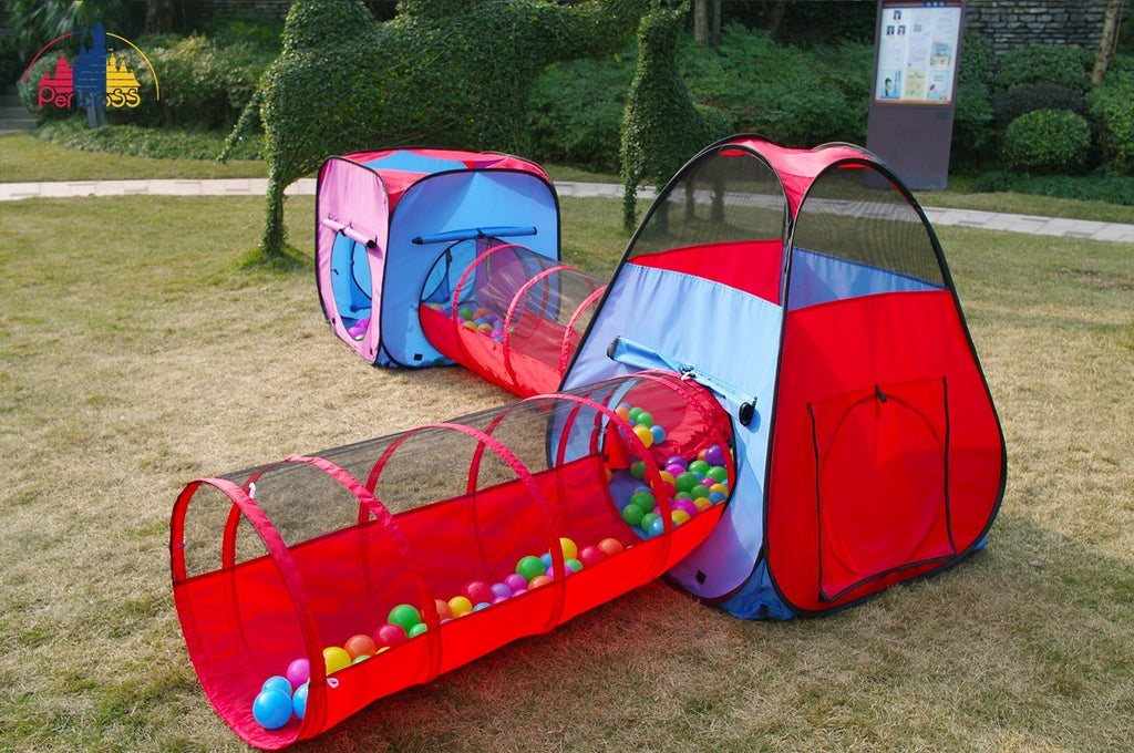 Heavy Duty Play Tent Play Tunnel Ball Pit Combo Designed to Connect & Heavy Duty Play Tent Play Tunnel Ball Pit Combo Designed to ...