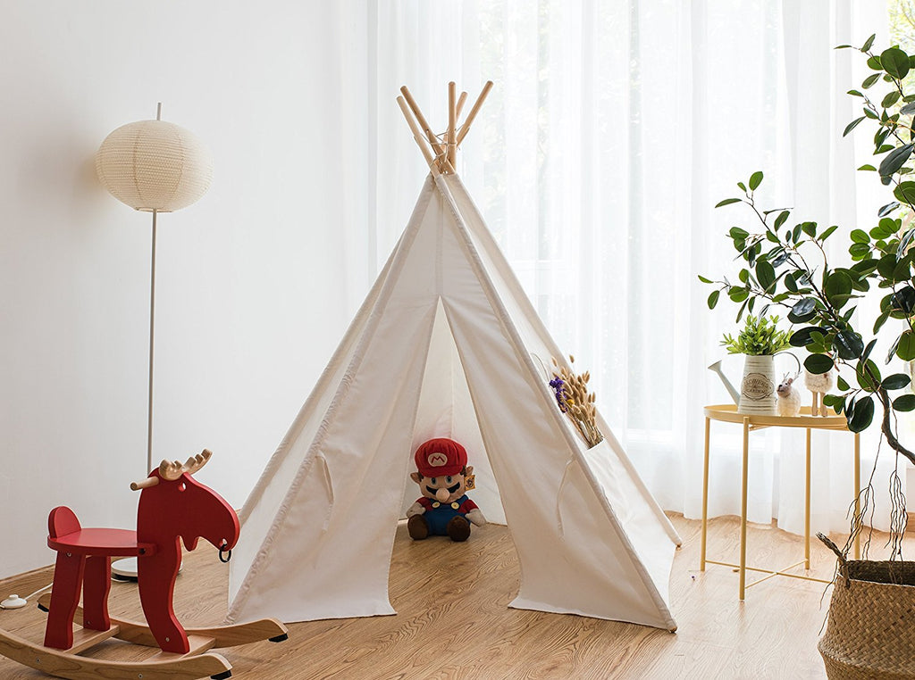 Pericross Kids Teepee Tent Indian Play Tent Childrenu0027s Playhouse for Outdoor and Indoor Play : kids teepee tent - memphite.com