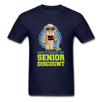 Senior Discount T-Shirt for Men - navy