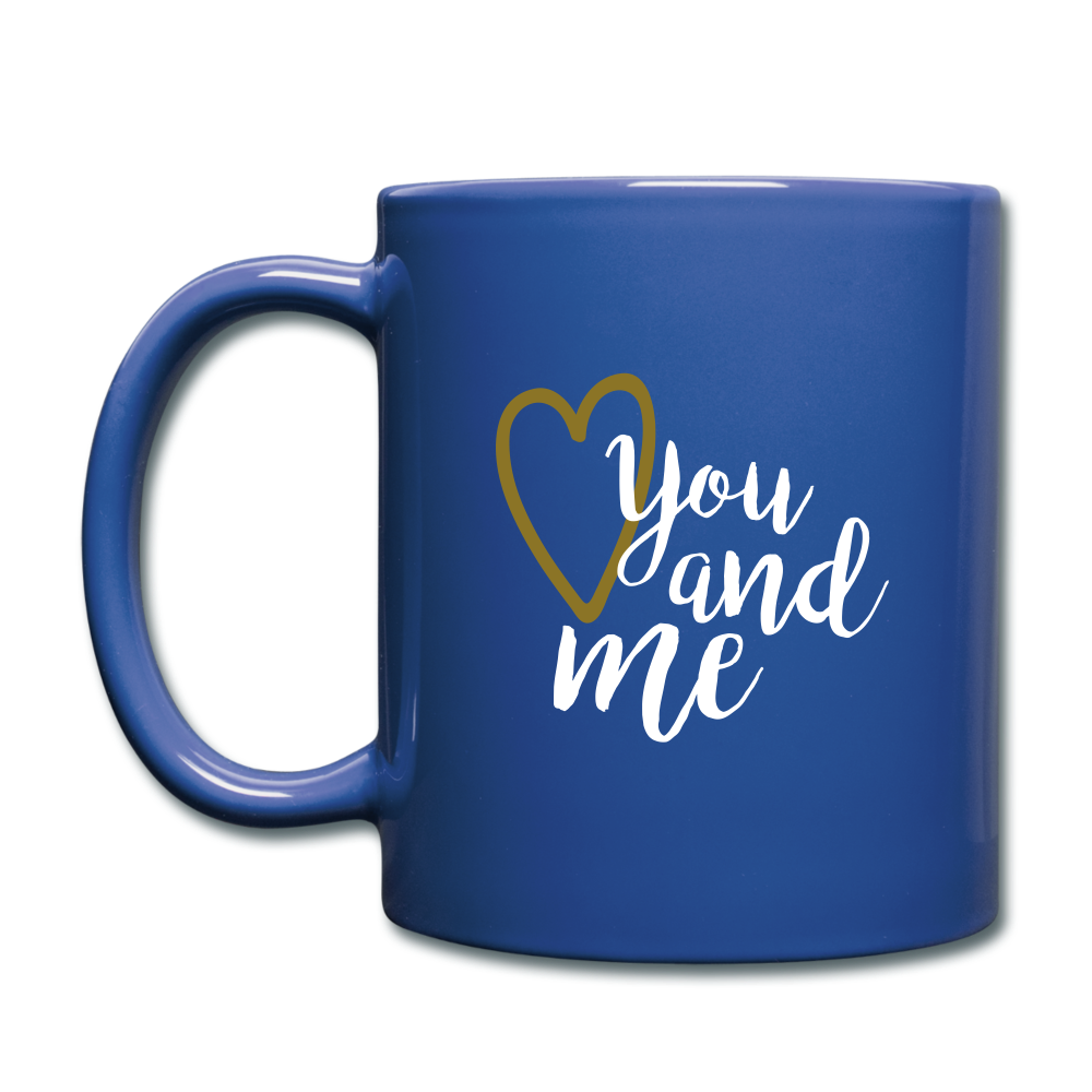 Full Color Mug (Multicolor) - You and Me - royal blue