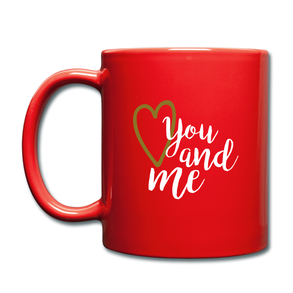 Full Color Mug (Multicolor) - You and Me - red