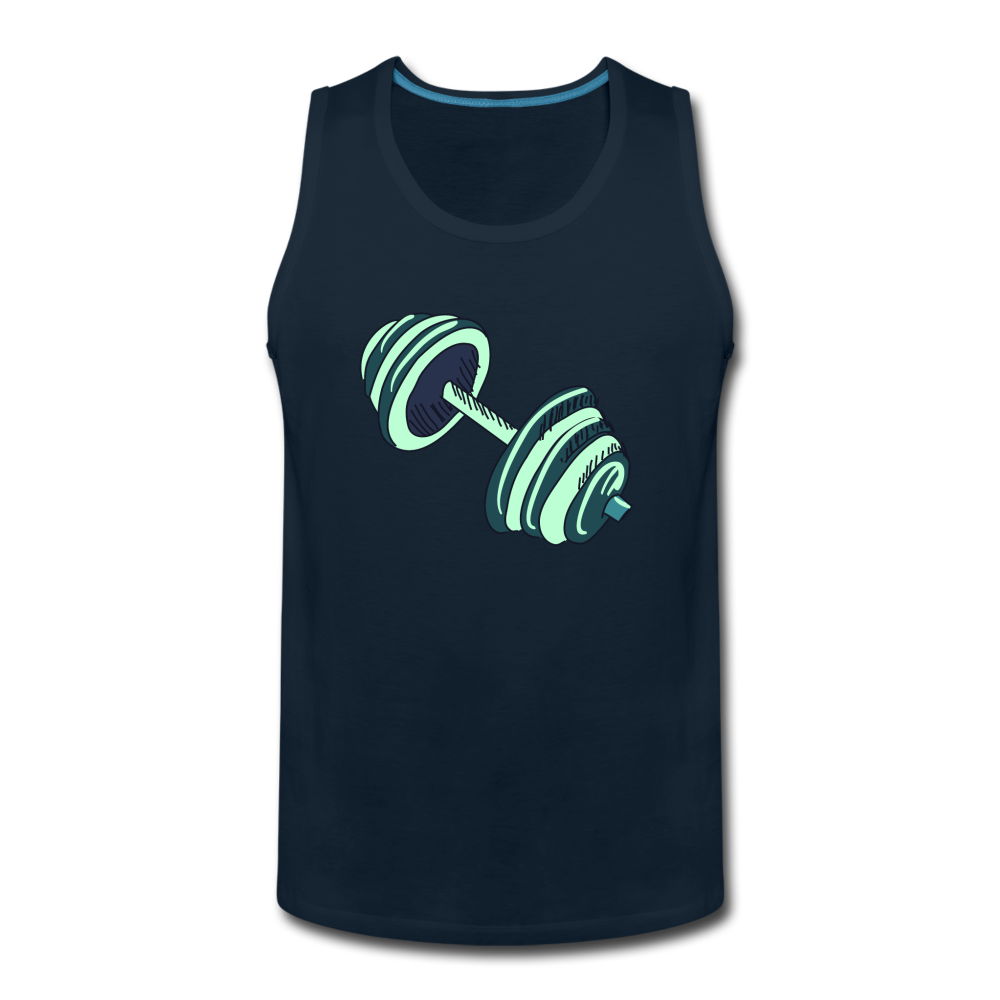 Men's Premium Tank - Dumbell - deep navy