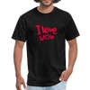 Unisex Classic T-Shirt - I Love You - black