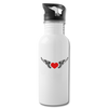 Water Bottle - Flying Heart - white