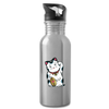 Water Bottle - Maneki Neko - silver