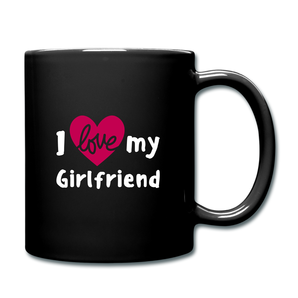 Full Color Mug - I love my girlfriend - black