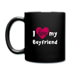 Full Color Mug - I love my boyfriend - black