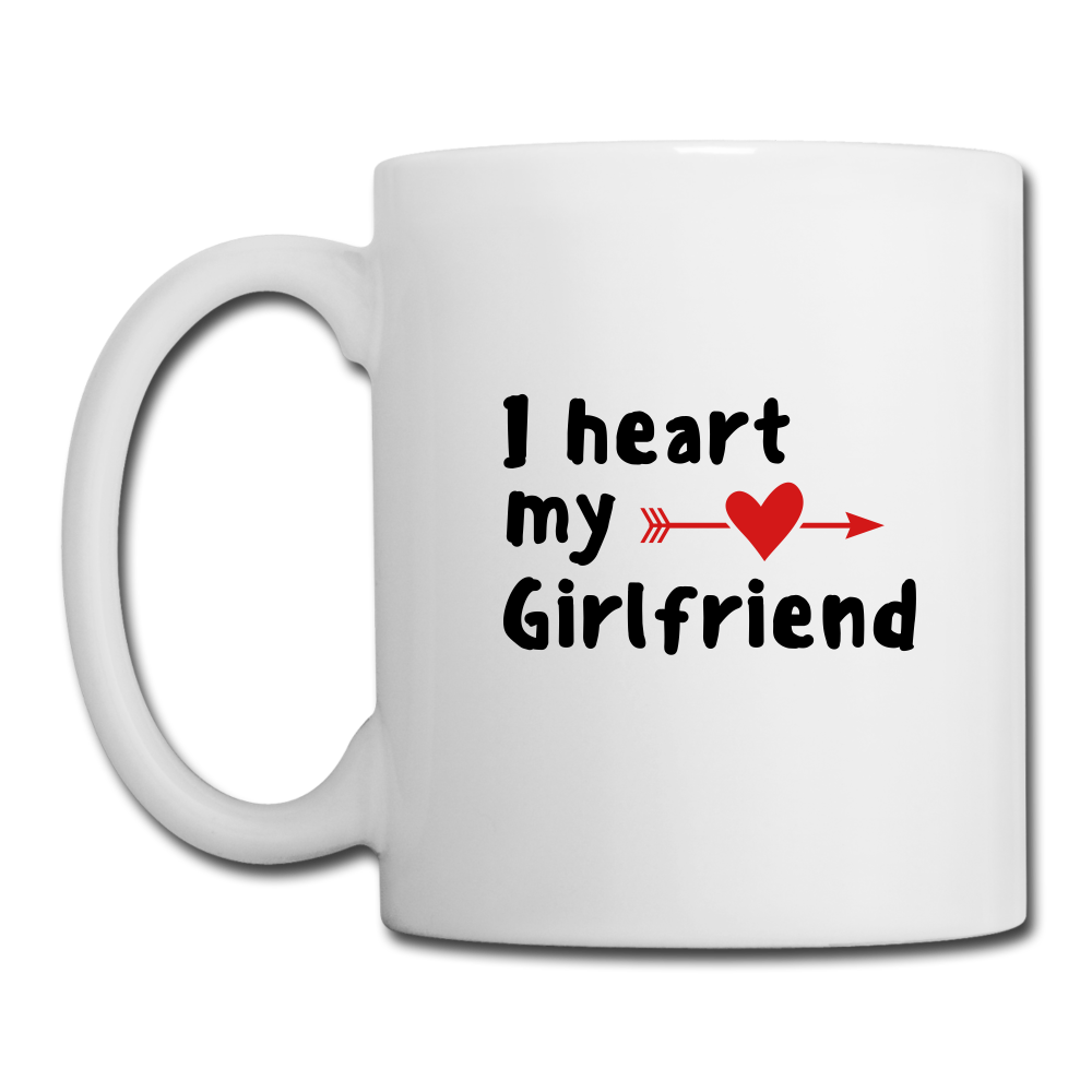 Coffee/Tea Mug - I heart my girldfriend - white