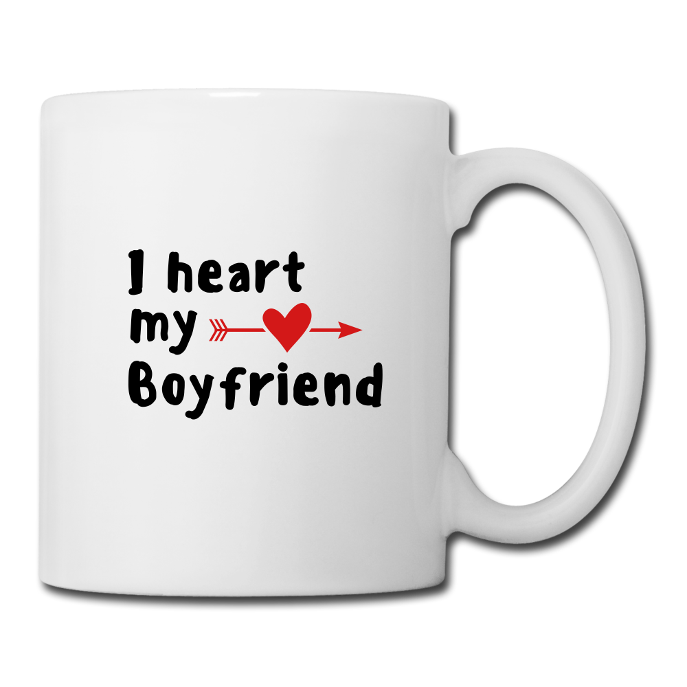 Coffee/Tea Mug - I heart my boyfriend - white
