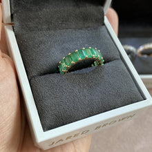 Load image into Gallery viewer, Green Emerald Eternity Ring