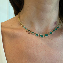 Load image into Gallery viewer, Emerald Halo Necklace
