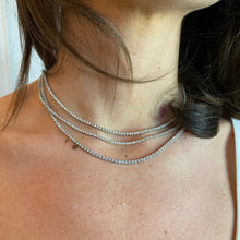 Load image into Gallery viewer, Mini-Diamond Tennis Necklace