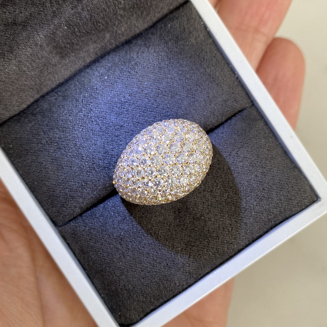 Domed Bobble Pavé Ring